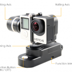 Gimbal Stabilizer 3-axis Wearable for SJCAM SJ4000