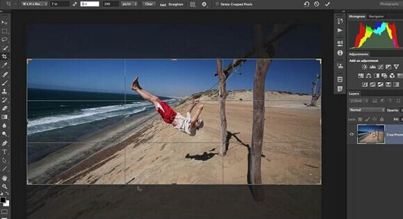 Cropping in Lightroom